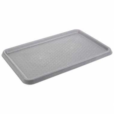 Goedkope grijze laars uitloop mat / kofferbak mat