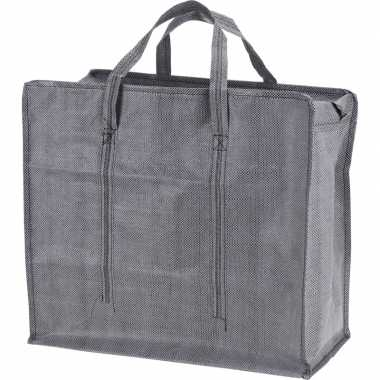 Goedkope grijze mega boodschappentas/shopper