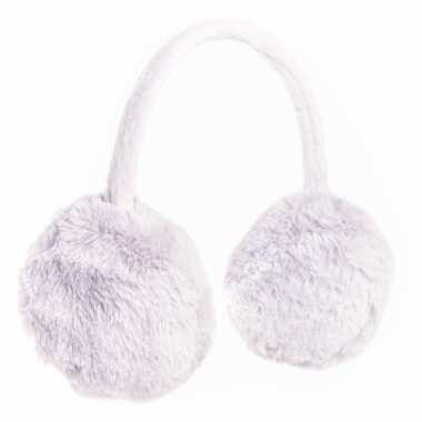 Goedkope grijze oorwarmers nepbont meisjes
