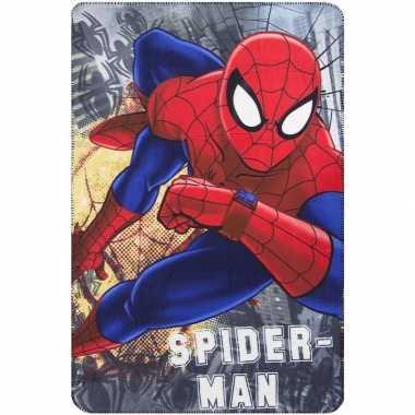 Goedkope grijze spiderman fleece deken jongens
