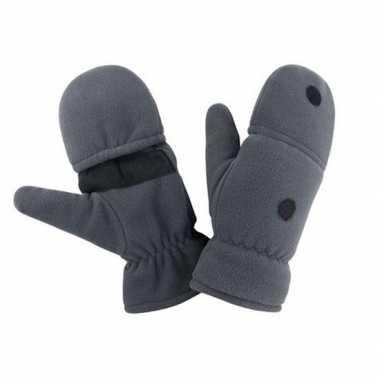 Goedkope grijze wanten/handschoenen volwassenen