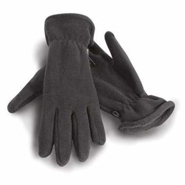 Goedkope grijze warme fleece handschoenen volwassenen