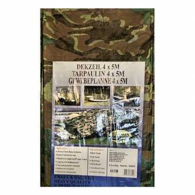 Goedkope groen camouflage afdekzeil / dekzeil meter