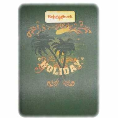 Goedkope groen reisdagboek/reisplanner