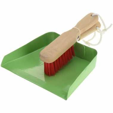 Goedkope groen stalen speelgoed stoffer blik kinderen