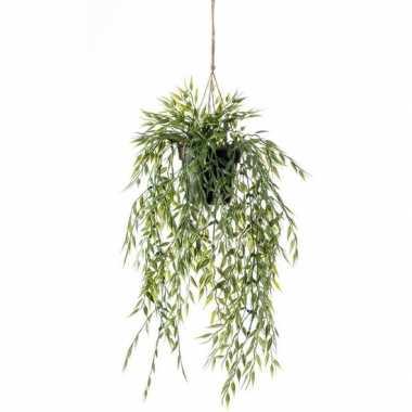 Goedkope groene bamboe kunstplant hangende pot