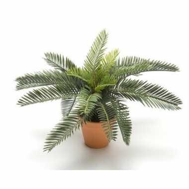 Goedkope groene cycas palm/vredespalm kunstplant pot