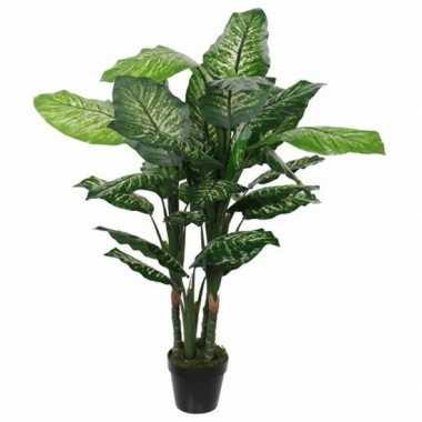 Goedkope groene dieffenbachia kunstplant pot
