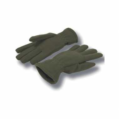 Goedkope groene fleece handschoenen volwassenen