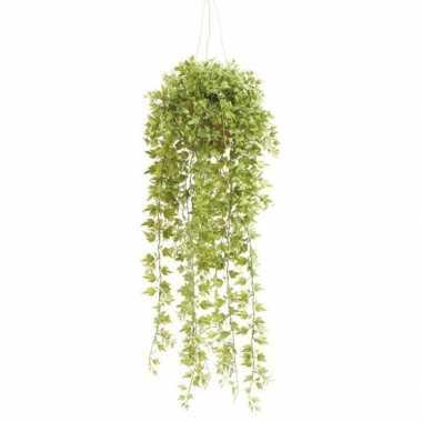 Goedkope groene hedera/klimop kunstplant hangende pot