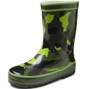 Groene kinder regenlaarzen camouflage goedkope
