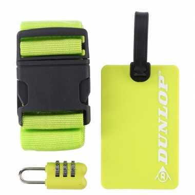 Goedkope groene koffer/bagage accessoiresset