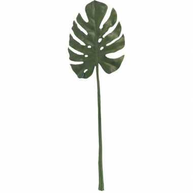 Goedkope groene monstera/gatenplant blad kunsttak kunstplant