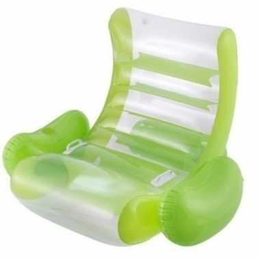 Goedkope groene opblaasbare stoel
