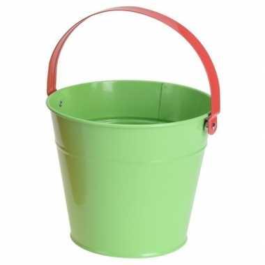 Goedkope groene stalen speelgoed emmer kinderen