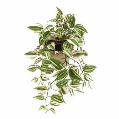Goedkope groene tradescantia/vaderplant kunstplant hangende pot