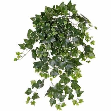 Goedkope groene/witte hedera helix/klimop kunstplant buiten