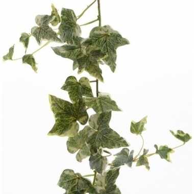 Goedkope groene/witte hedera helix/klimop kunstplant slinger