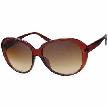 deb7af46c6a05f Goedkope grote dames zonnebril rood model