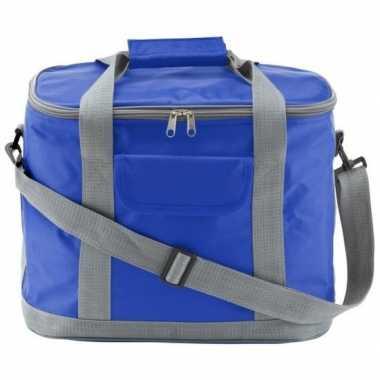 Goedkope grote koeltas blauw/grijs xl liter