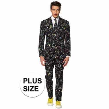 Grote maten heren verkleed pak/kostuum disco goedkope