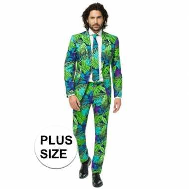 Grote maten heren verkleed pak/kostuum jungle goedkope