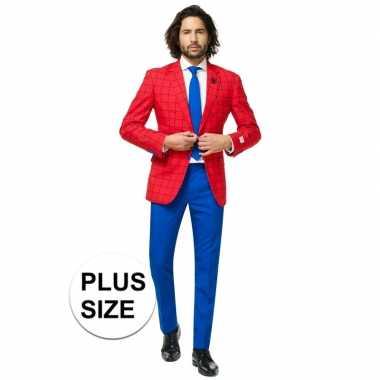 Grote maten heren verkleed pak/kostuum spiderman goedkope