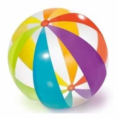 Goedkope grote opblaasbare strandbal transparant kleuren