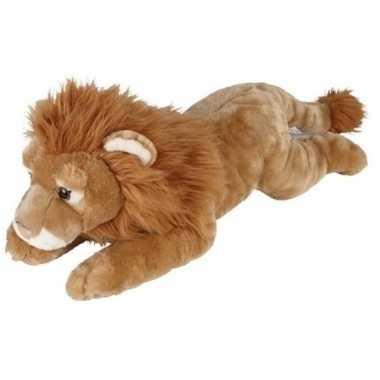 Goedkope grote pluche bruine liggende leeuw knuffel speelgoed
