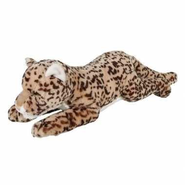 Goedkope grote pluche gevlekte liggende luipaard knuffel speelgoed