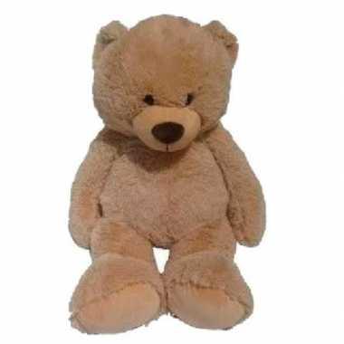 Goedkope grote pluche lichtbruine beer bas knuffel