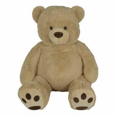 Goedkope grote pluche lichtbruine beer buddy knuffel