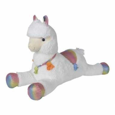 Goedkope grote pluche witte alpaca/lama knuffel speelgoed