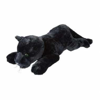 Goedkope grote pluche zwarte panter liggend knuffel speelgoed