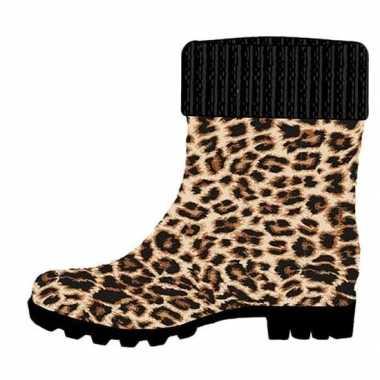 Half hoge dames regenlaarzen luipaard dierengoedkope