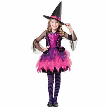 Goedkope halloween barbie heksen kostuum meisjes