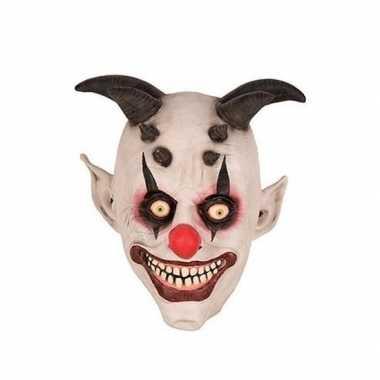 Goedkope halloween halloween clown hoorns masker latex