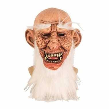 Goedkope halloween halloween masker oude man latex
