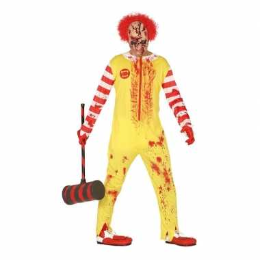 Goedkope halloween horror clown ronald verkleed kostuum heren