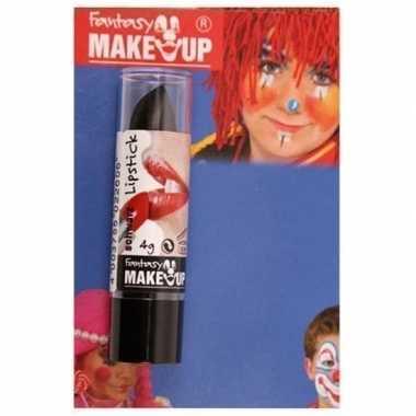 Goedkope halloween/horror mat zwarte lippenstift/lipstick
