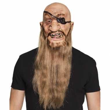 Goedkope halloween latex piraten masker volwassenen