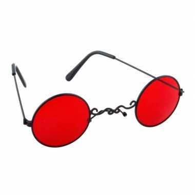 Goedkope halloween rode dracula/vampier party bril volwassenen