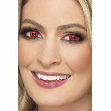 Goedkope halloween rode halloween party daglenzen duivel