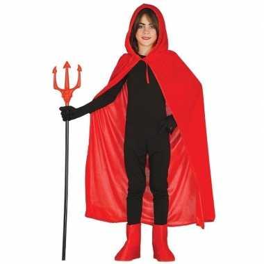 Goedkope halloween rode halloween verkleedcape capuchon kinderen