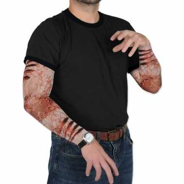 Goedkope halloween zombie halloween verkleedaccessoire mouwen volwass
