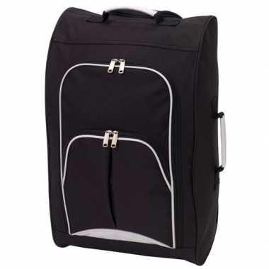 Goedkope handbagage reiskoffer/trolley zwart