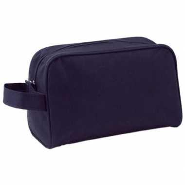 Goedkope handbagage toilettas zwart handvat , heren/dames