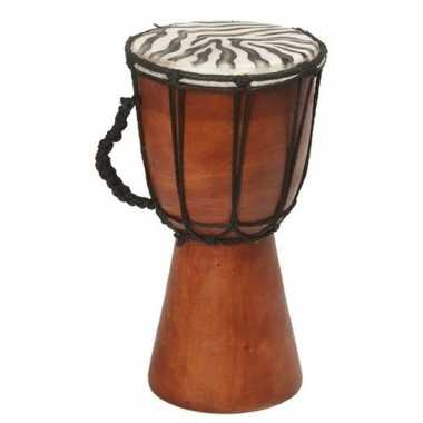 Handgemaakte drum/trommel zebragoedkope