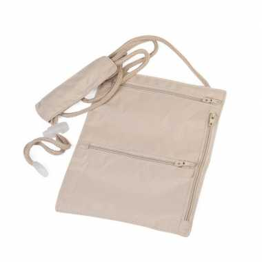 Goedkope handige halstas / nektasje reisportemonee
