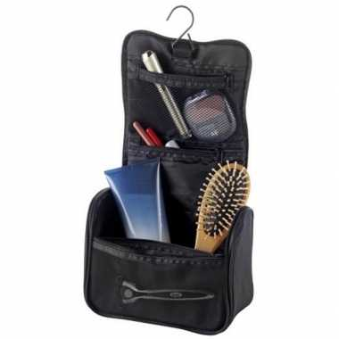 Goedkope hangende toilettas/make up tas zwart heren/dames